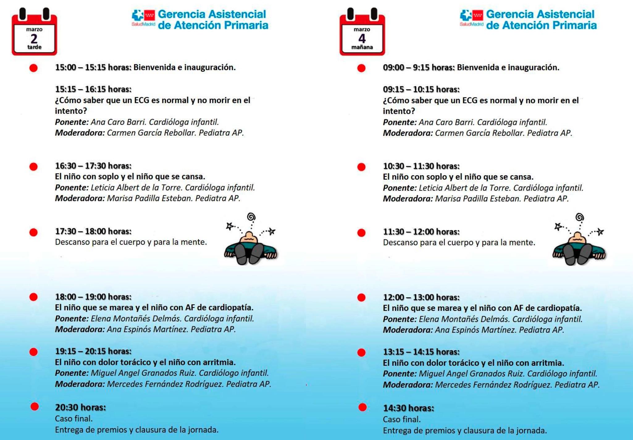 Programa científico 3ª edición Taller de ECG para Pediatras de Atención Primaria.